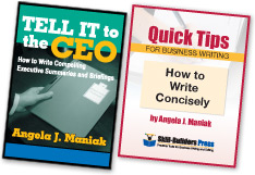 Angela J Maniak, Quick Tips for Business Writing, Books on Business Writing